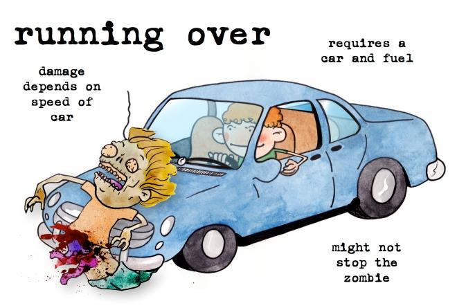 running over