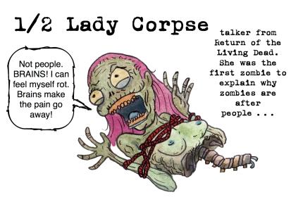 half lady corpse