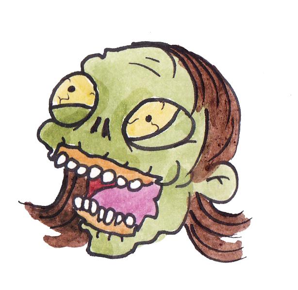 Green lady head