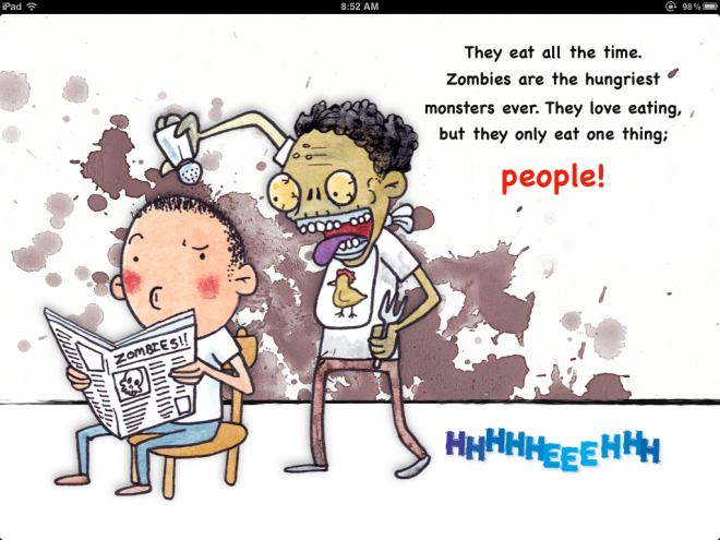 zombie kids book page