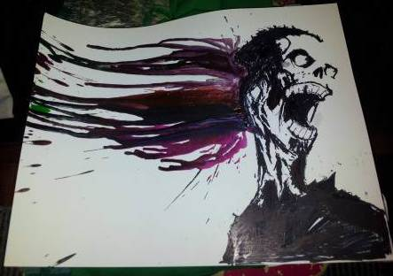 zombie-crayon-art