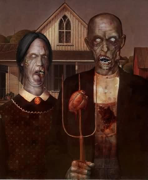 zombie grant wood