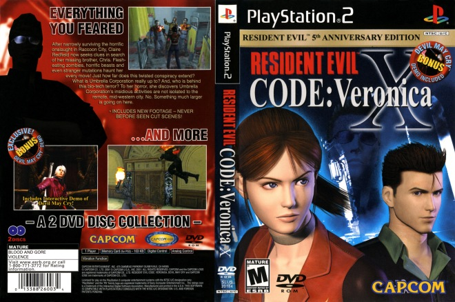 Resident Evil Code Veronica X COVER