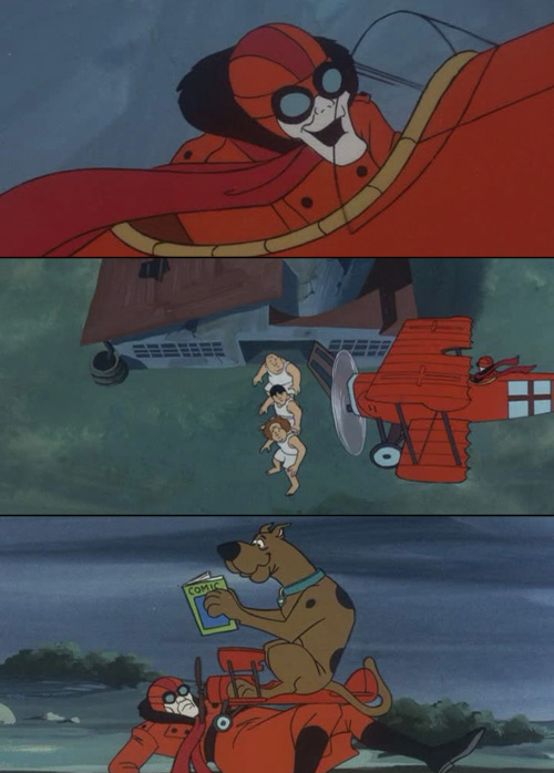 scooby doo red baron
