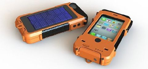 solar phone charge case