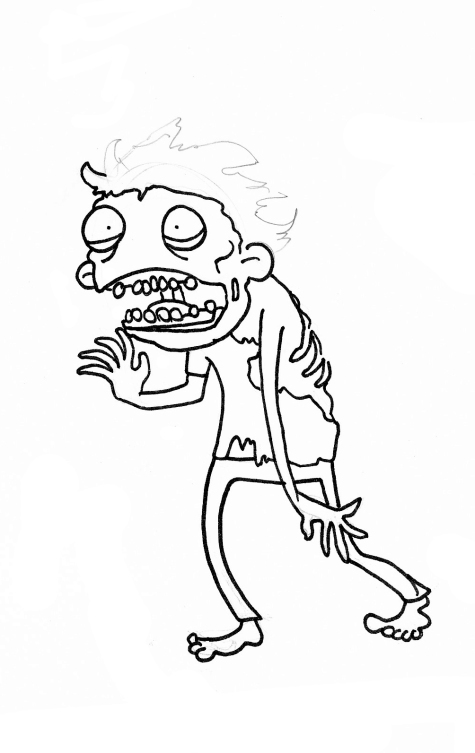 zombie ink drawing