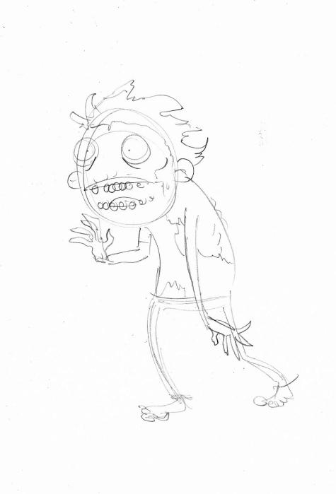 zombie pencil sketch