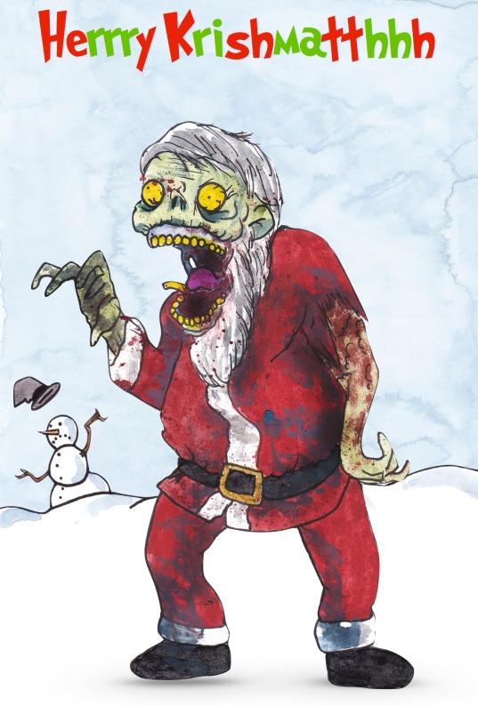 Zombie Xmas Card