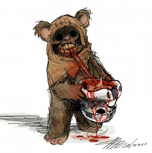 http://401ak47.com/stars-wars-ewok-zombie-art/