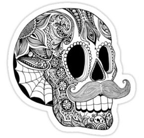 mexican sugar skull coloring pages - photo#32